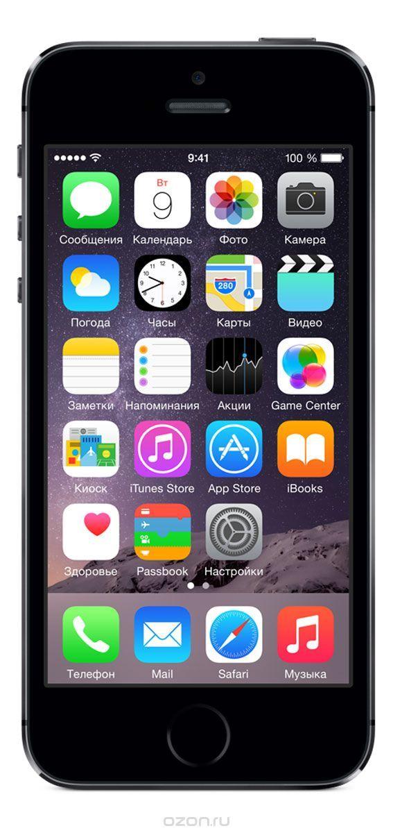Apple iPhone 5s 16GB, Space Gray - купить в разделе электроника apple iphone 5s 16gb, space gray по лучшей цене от интернет-магазина OZON.ru 29.990руб