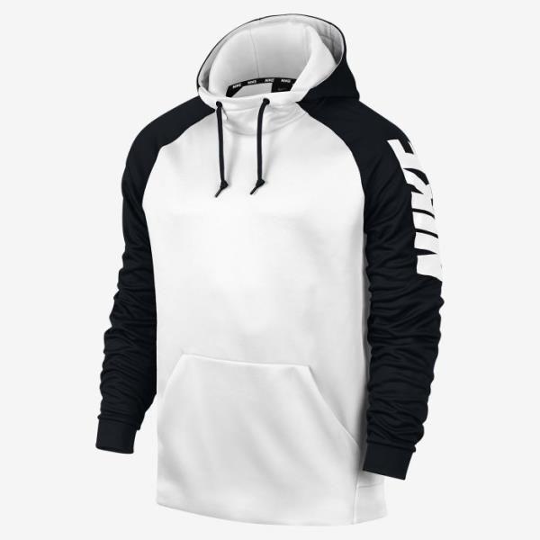 Nike Therma Men s Training Hoodie -White Black White ...