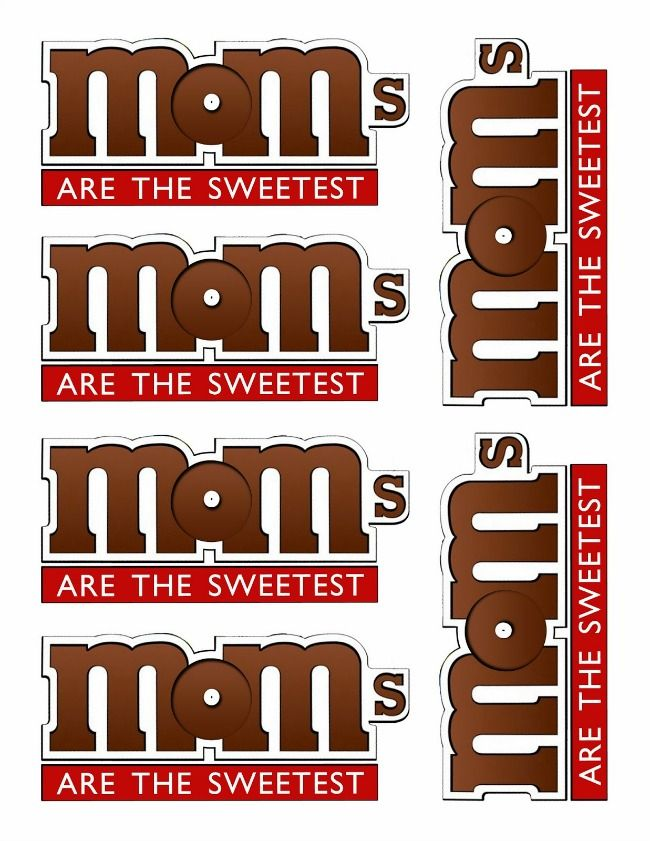 M&M Treat Label for Mom - Kinzie's Kreations