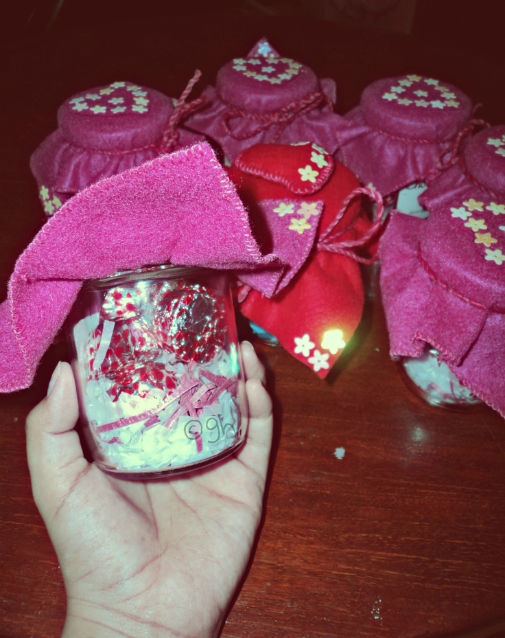 chocolate in a jar! :D