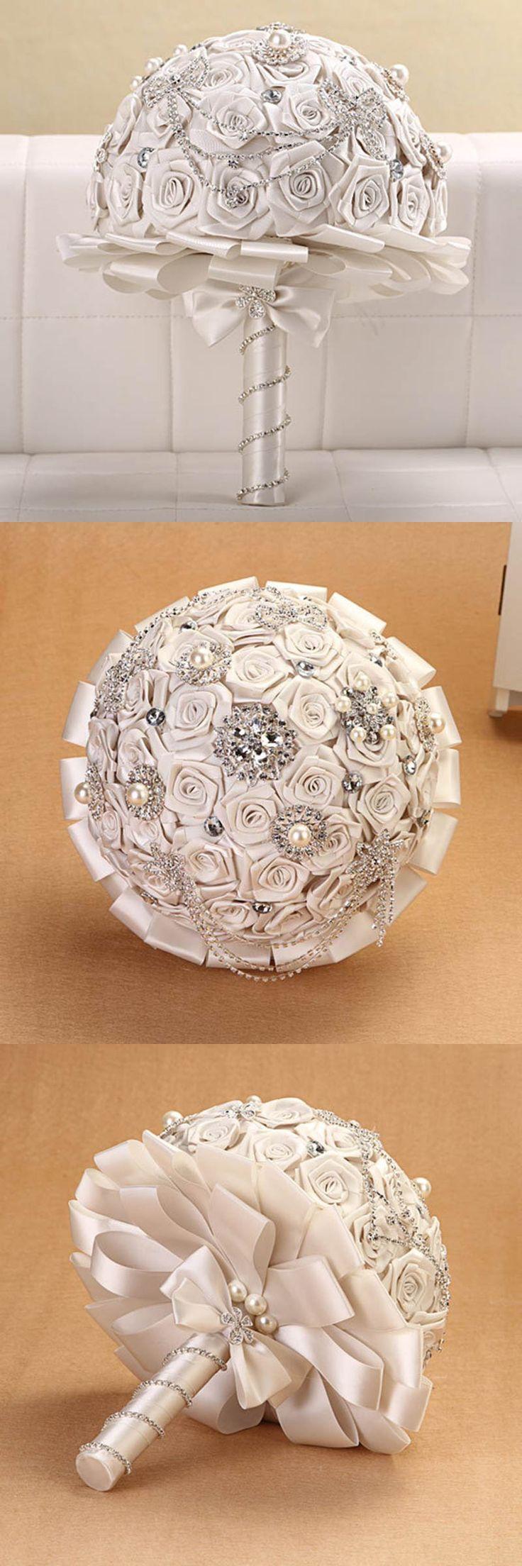 Elegant YIYI Wedding Bouquet luxury Crystal Pearls wedding accessories Bridesmaid Wedding Bridal Bouquets WB00137