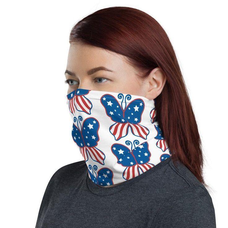 Neck Gaiter for Men or Women , Face mask, Butterfly Made