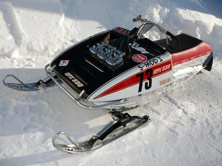 Remarkable, rather Vintage racing yamaha snowmobile
