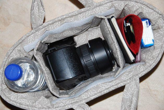 """*** MACH DEINE LIEBLINGSTASCHE ZUR FOTOTASCHE ***  Kamera-Einsatztasche für Spiegelreflexkamera  Mit der praktischen """"Kamera-Einsatztasche"""" kannst Du Deine Kamera in Deiner Handtasche oder ..."""
