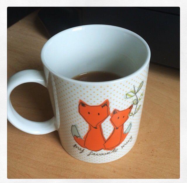 Homespun fox mug