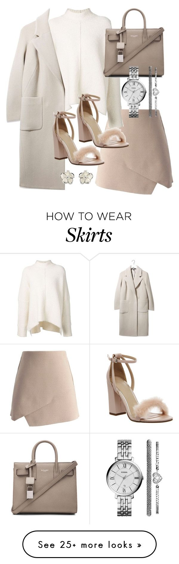 """Untitled #19350"" by florencia95 on Polyvore featuring Chicwish, URBAN ZEN, Boutique, Office, Yves Saint Laurent, FOSSIL and Shaun Leane"