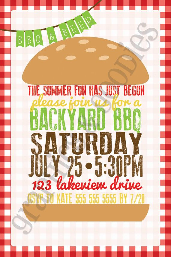Hipster Backyard Bbq : Backyard BBQ Invitation by GraphicsAndGoodies on Etsy