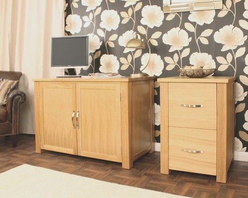 Brand New Contemporary Filing Cabinet Constructed Using Solid Oak With  Veneers