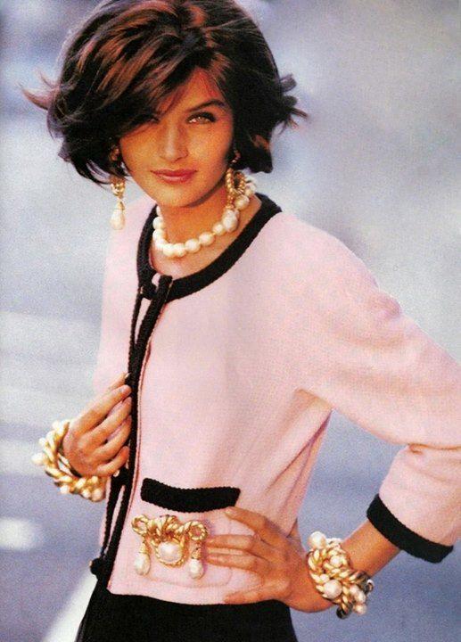 Helena Christensen in Chanel. 1990's.