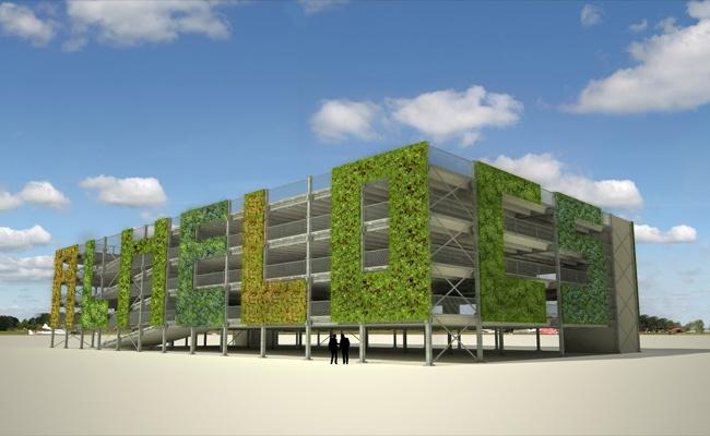 ModuPark PLUS parking system, Ballast Nedam (NL), green facade type 3, www.8aa.nl