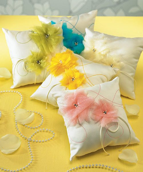 """""""I Do . . . Color"""" Ring Pillow"""