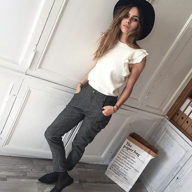 C'est le look du jour   • Top Clarissa Sugarlips • Pantalon Barnabé Margaux Lonnberg • Chapeau Hipanema   A retrouver sur Shopnextdoor.fr   #ootd #lookoftheday #tenuedujour #margauxlonnberg #hipanema #amenapih #shopnextdoor #onlineshop
