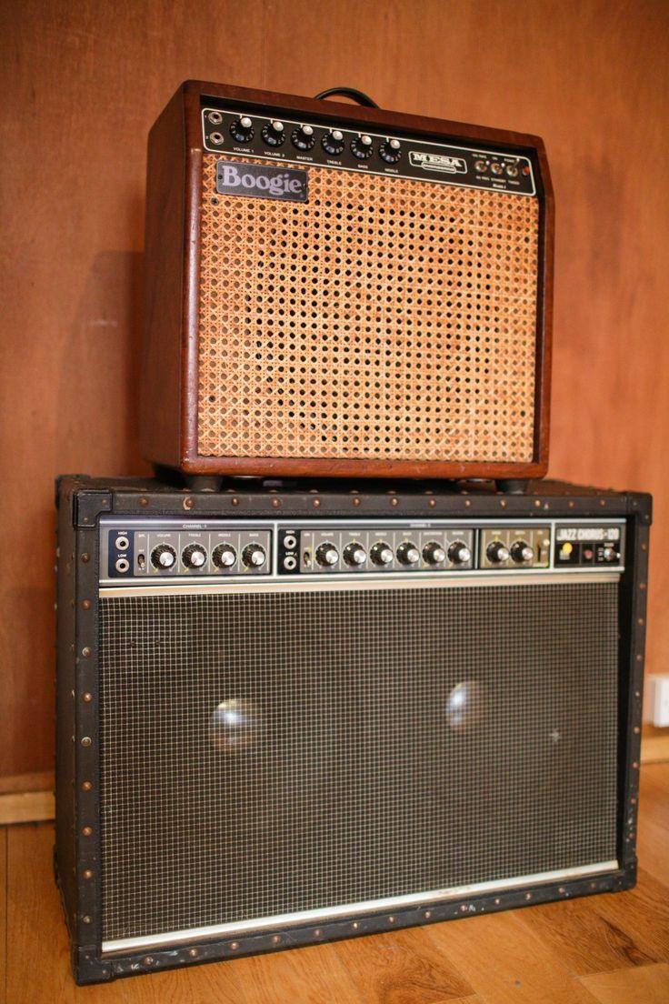 Roland JC-120 Jazz Chorus and Mesa Boogie Mark 1 amplifier.