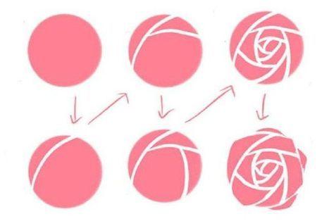 роза на ногтях
