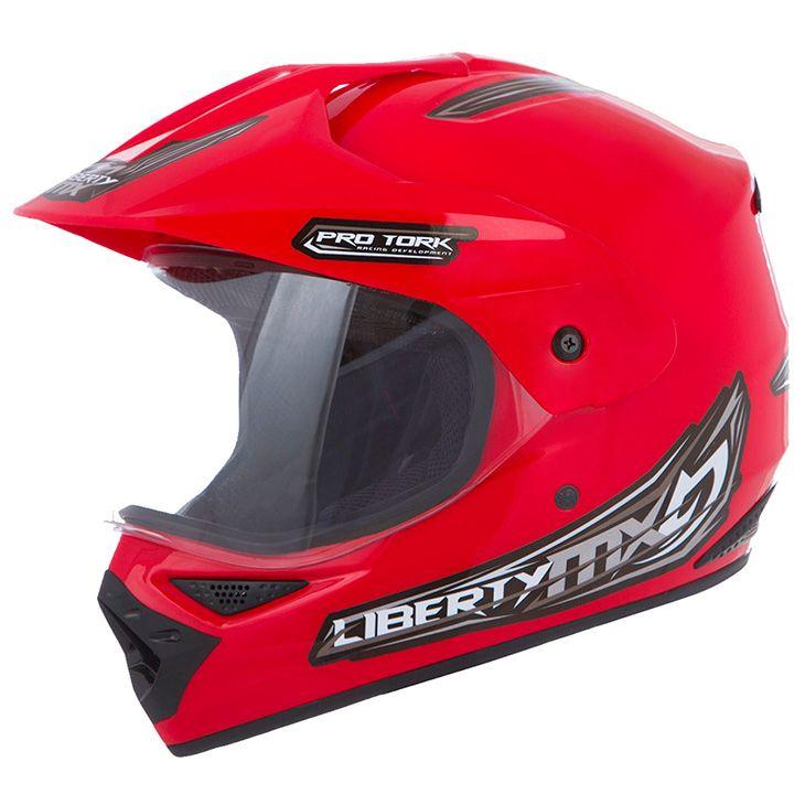 Capacete Motocross Liberty Mx Vision Vermelho