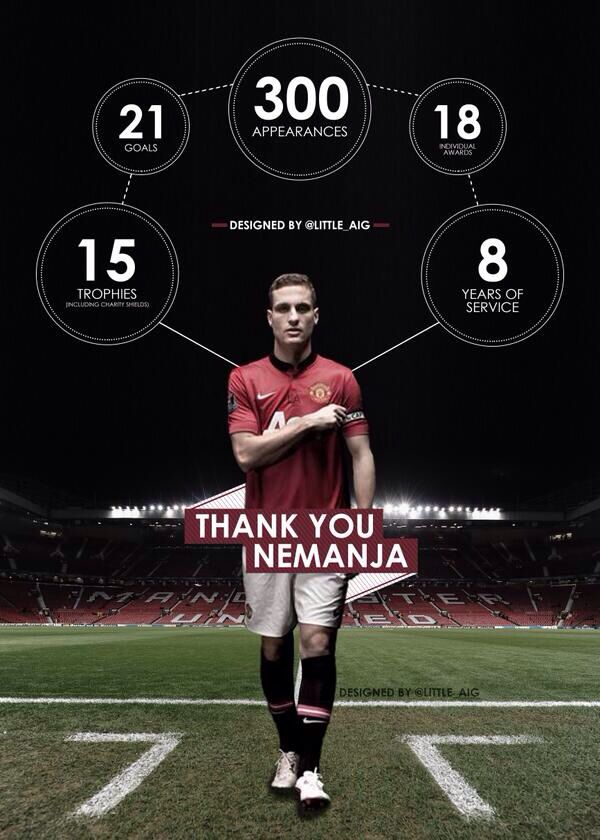 Thank you for eight glorious years. We're going to miss you. There's only one Vidic. By @Little_aig.