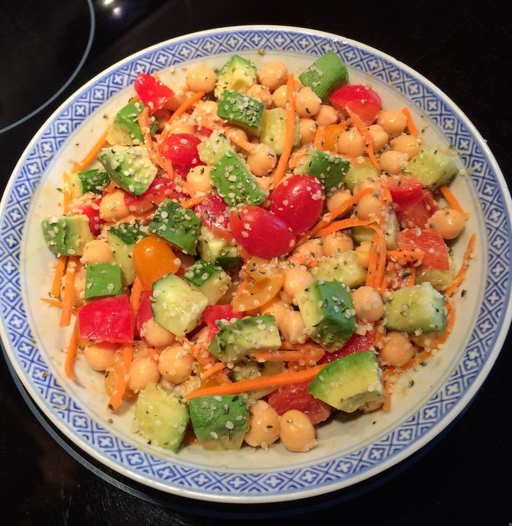 Veggie Loaded Chickpea Salad: This chickpea salad is easy, healthy, filling, and requires no cooking at all!