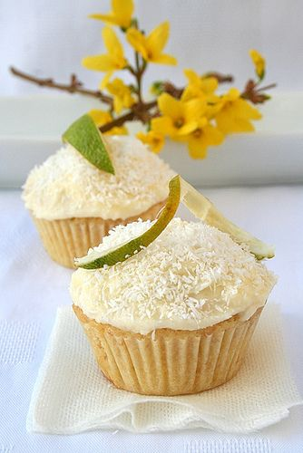 Key Lime Coconut Cupcakes 2/3 by Le Petrin, via Flickr