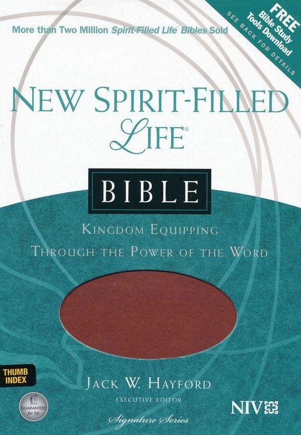 New Spirit-Filled Life Bible-Butterscotch/Aubu (NIV)