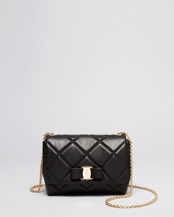 Salvatore Ferragamo Mini Bag - Soft Quilted Miss Vara Bow ...