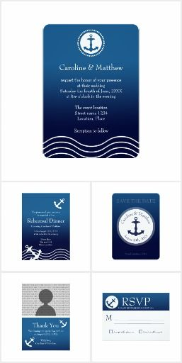 Nautical Anchor Wedding Set #wedding #anchor #nautical