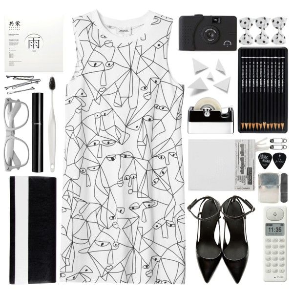 """#394 Black and White"" by blueberrylexie on Polyvore"