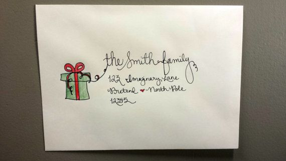 Handwritten Holiday Envelope Addressing - 10% off your order through 11-30-16!