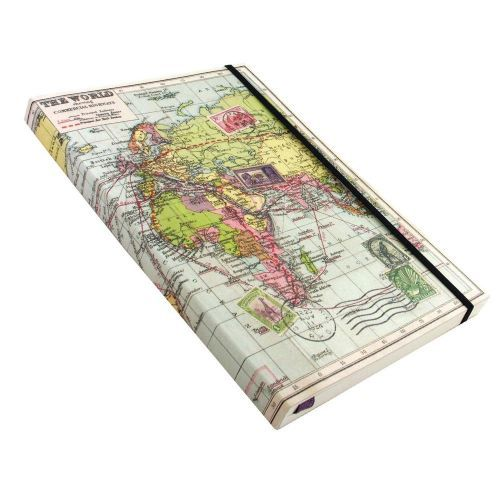 This Map Travel Journal is a great notebook for jotting down notes, thoughts and travelling memories.