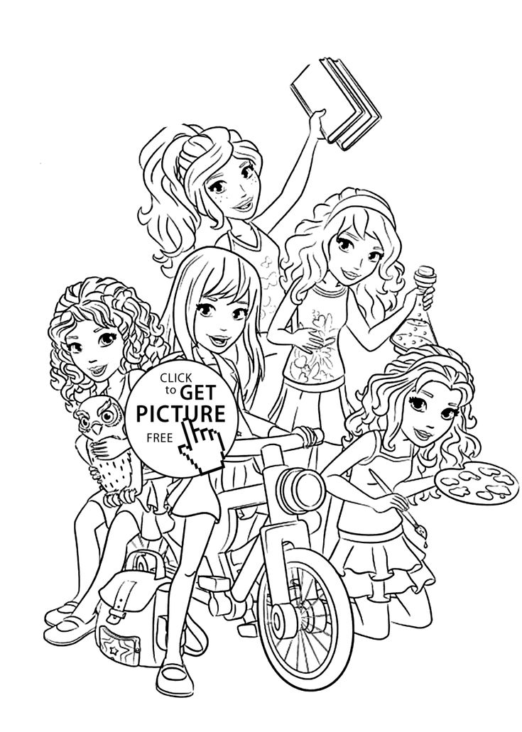 lego friends all coloring page for kids printable free