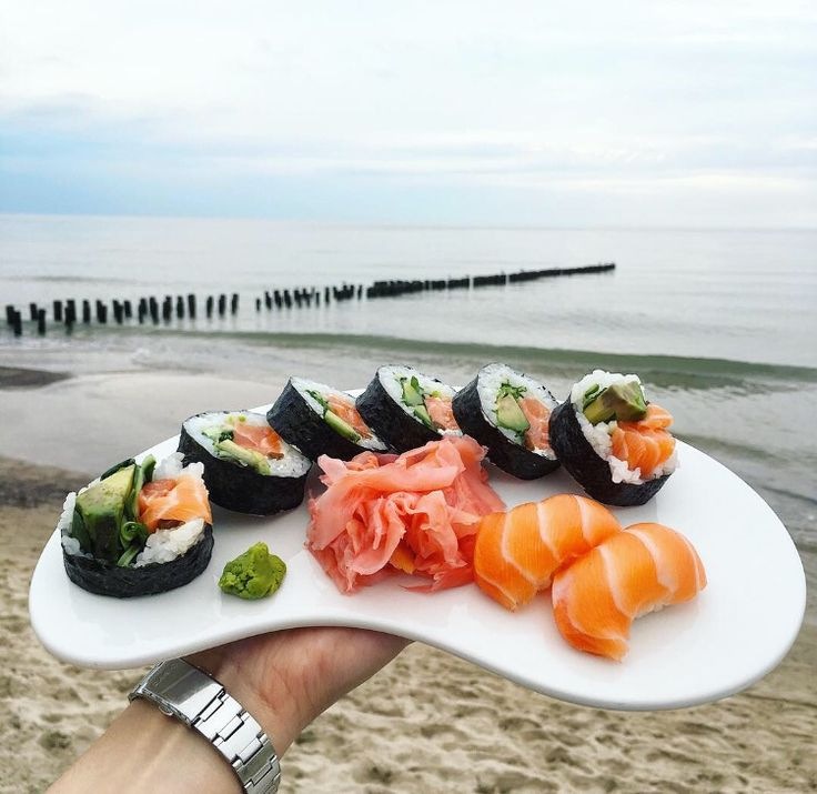 Sushi time by the sea  @ Dune Restaurant Cafe Lounge in Mielno, Poland