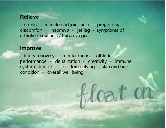 Floatation Therapy - improve your health and well being.