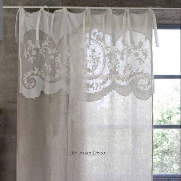 Les 25 meilleures id es de la cat gorie rideaux blancs sur pinterest rideaux de lin blancs for Rideaux gris et blanc en lin