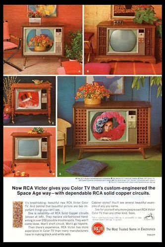 we've come along way!  We had the one in the upper left hand corner.  I watched the moon walk on this set.