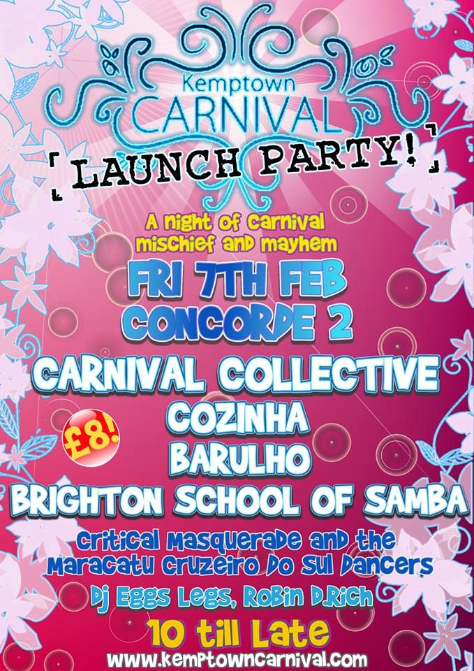 Kemp Town Carnival launch party