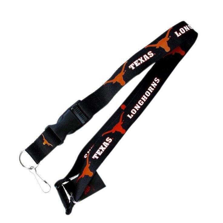 Aminco Ncaa Texas Longhorns Clip Lanyard Keychain Id Ticket Holder -