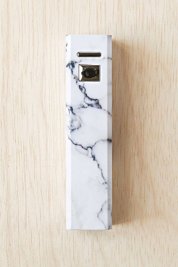 Urban Outfitters Marbled Portable Phone Charger. Need a portable charger, not necessarily this one. It was just pretty to pin!
