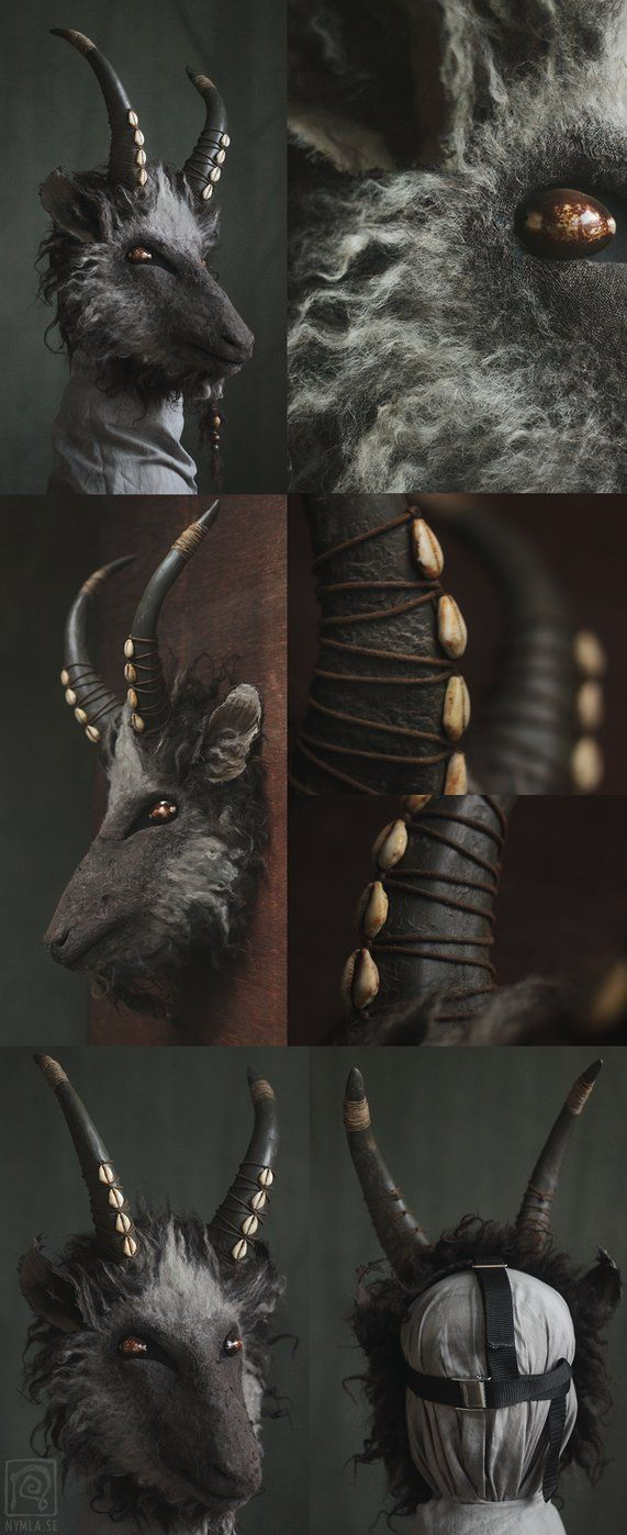 Black Phillip inspired goat mask (for sale) by Nymla.deviantart.com on @DeviantArt