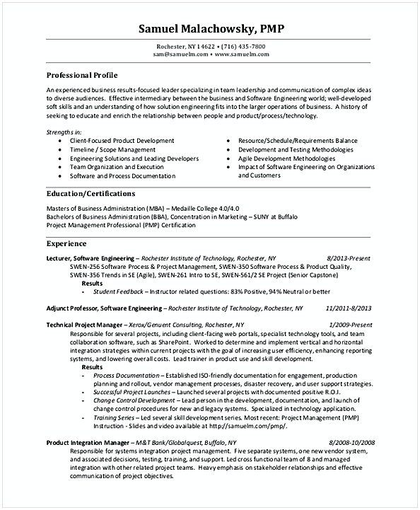 The 25+ best Resume format examples ideas on Pinterest Resume - it project manager resume samples