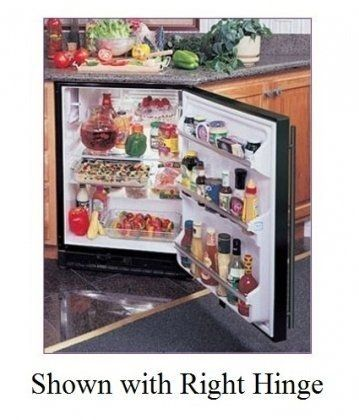 AGA Marvel 61ARM-BS-F-L Refrigerator with Left Hinge Door, Stainless Steel, 24-Inch