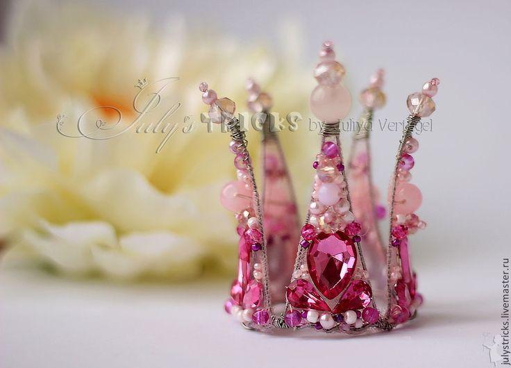 Купить Розовая корона для принцессы. Детские аксессуары.Корона детская - розовый, розовая корона, корона