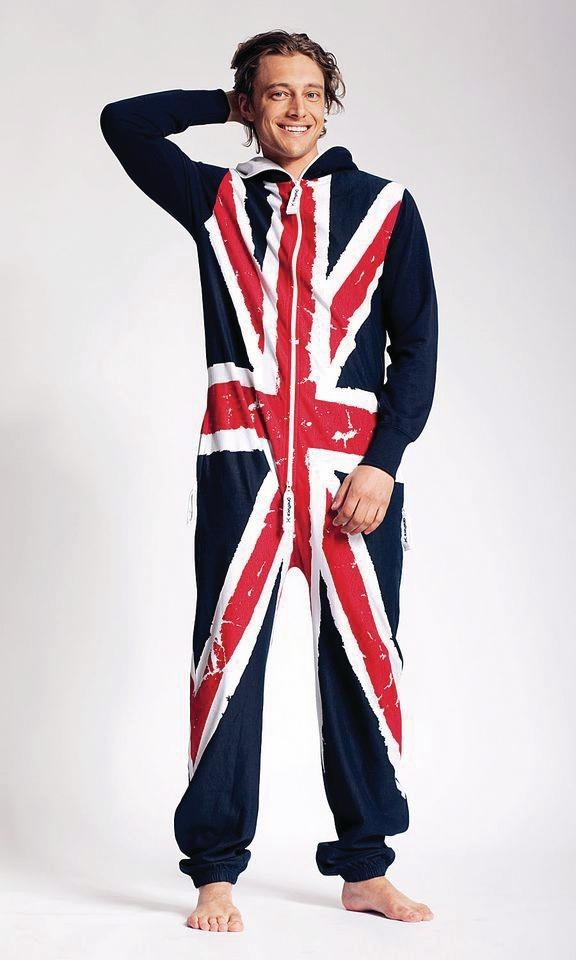 union jack. Perfect for lounging around the house.