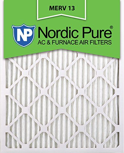Nordic Pure 20x24x1M13-2 MERV 13 AC Furnace Filter 20x24x1 Pleated Merv 13 AC Furnace Filters Qty 2