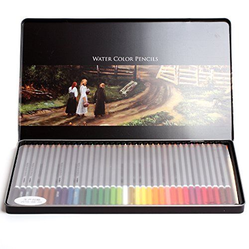 48 Colors Professional Artist Watercolor Pencils Sets Kit With Tin Case ** Continue to the product at the image link.