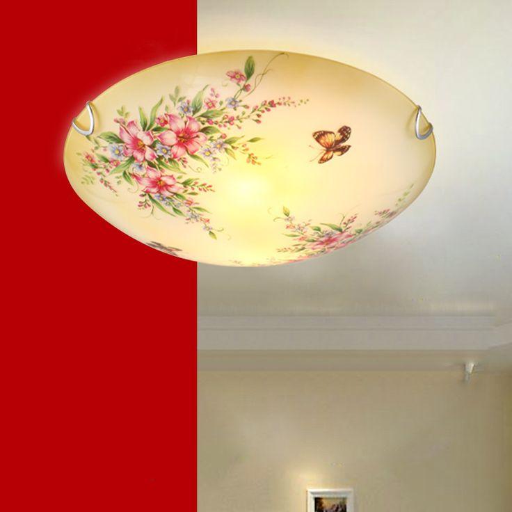 Ucuz Çin Tarzı Retro Klasik Çiçek LED Tavan Lambaları Cam Koridor Işık Yatak Odası Oturma Odası Mutfak Restoran Mutfak Aydınlatma, Satın Kalite tavan ışıkları doğrudan Çin Tedarikçilerden: