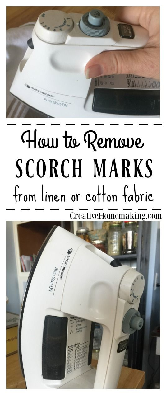 Remove a scorch mark from linen or cotton fabric with these amazing tips from our readers. They really work! #cleaninghacks #cleaningtips