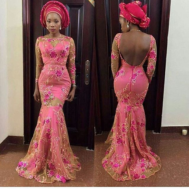14 PINK ASO EBI LACE STYLES THAT WOULD LEAVE YOU SPEECHLESS