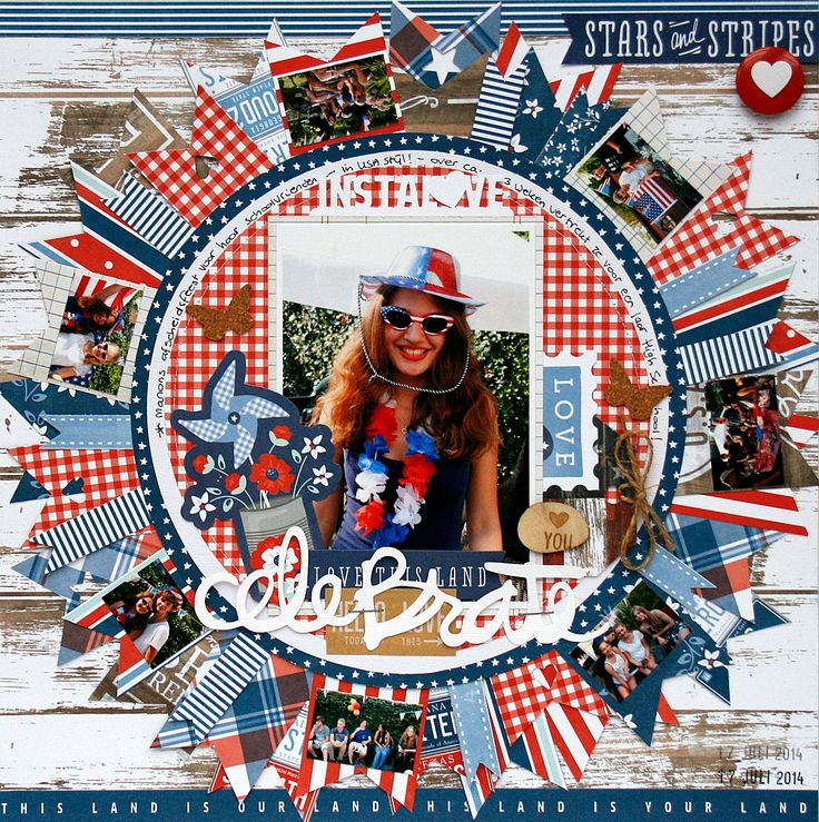 On pinterest scrapbook pages fourth of july and scrapbook layouts - 33 Best Images About Pebbles Americana Project Ideas On