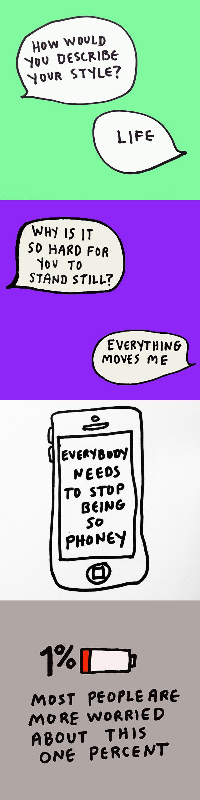 Artist Amber Ibarreche uses her Instagram account to write out puns, witty sayings and sometimes a doodle or two. Her inspirational photos will not only put a smile on anyone's face, but also lend solid life advice for when you're feeling down.