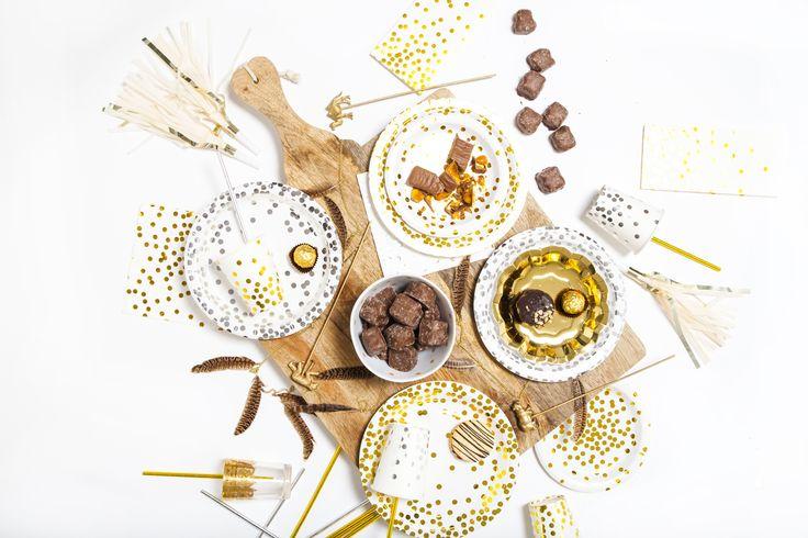 Gold & silver confetti collection.
