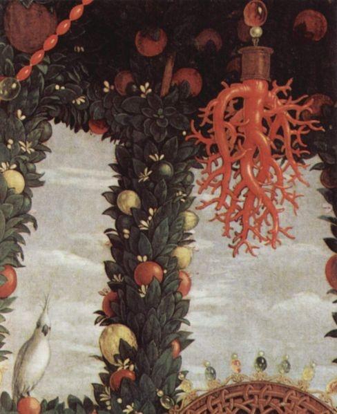 Andrea Mantegna, Madonna della Vittoria. Detail (1495)